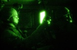 Spc. Hargis operates from inside the safety of a vehicle