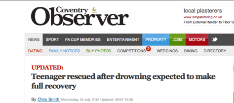 Headline from Coventry Observer (click to see link)